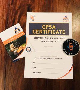CPSA Certtificate Shotgun Skills