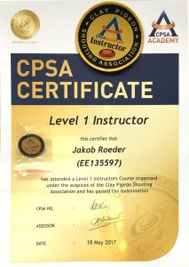 CPSA Certificate - Level 1 Instructor