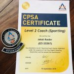 CPSA Certificate - Level 2 Coach